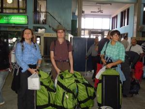 Verunsicherung auf dem Flughafen Kathmandu