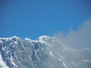 Das meiste hier ist der Nuptse, irgendwo guckt ein bissel Everest raus